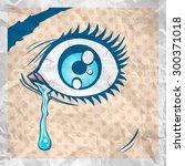 vector illustration of the eye... | Shutterstock .eps vector #300371018