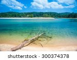 the sea in the south of...   Shutterstock . vector #300374378