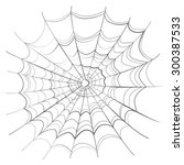 complicated scary spider web... | Shutterstock .eps vector #300387533