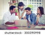 group of young colleagues... | Shutterstock . vector #300390998