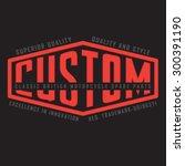 motorcycle custom typography  t ... | Shutterstock .eps vector #300391190