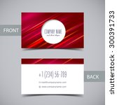 vector red business card... | Shutterstock .eps vector #300391733