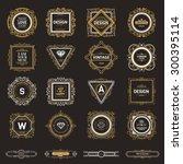 monogram  luxury logo template... | Shutterstock .eps vector #300395114