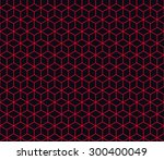 seamless red and black... | Shutterstock . vector #300400049