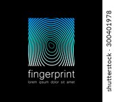 fingerprint   the template for... | Shutterstock .eps vector #300401978