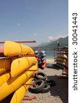 canoe boat for renting | Shutterstock . vector #30041443