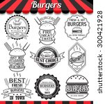 vector set of labels  stickers... | Shutterstock .eps vector #300421928