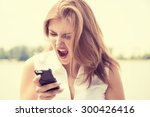 portrait angry young woman...   Shutterstock . vector #300426416