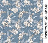 orchid seamless pattern  eps 8 | Shutterstock .eps vector #300435530