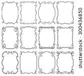 set of frames design elements.... | Shutterstock .eps vector #300436850