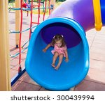 child playing on wood... | Shutterstock . vector #300439994