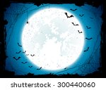 dark halloween background with... | Shutterstock .eps vector #300440060