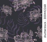 vector flowers | Shutterstock .eps vector #300442268