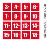 age icon symbol logo vector set | Shutterstock .eps vector #300447968