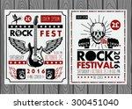 vintage rock festival posters | Shutterstock .eps vector #300451040