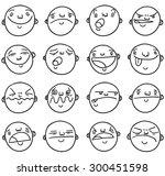 set of cartoon bald men with...   Shutterstock .eps vector #300451598
