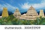 hindu narasimha temple located...   Shutterstock . vector #300455909