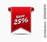 save 25 percent red vector icon ... | Shutterstock .eps vector #300460694