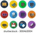 set of computer hardware icons...
