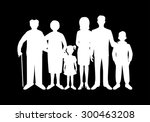 big happy family. father ...   Shutterstock .eps vector #300463208