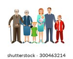 big happy family. father ...   Shutterstock .eps vector #300463214