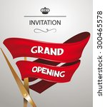 grand opening invitation card... | Shutterstock .eps vector #300465578