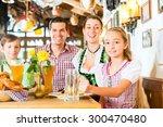 bavarian girl wearing dirndl... | Shutterstock . vector #300470480