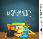 math backdrop. education... | Shutterstock .eps vector #300470990