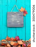 Rustic Blank Wood Sign Hanging...