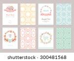 romantic vintage cards... | Shutterstock .eps vector #300481568