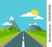 vector summer or spring... | Shutterstock .eps vector #300483308