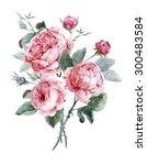 classical vintage floral... | Shutterstock . vector #300483584