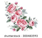 classical vintage floral... | Shutterstock . vector #300483593