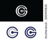 letter g and letter c vector... | Shutterstock .eps vector #300490820
