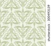 wallpaper in baroque style.... | Shutterstock .eps vector #300493139