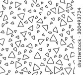 triangle geometric seamless... | Shutterstock .eps vector #300493724
