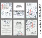 set of six vector designs of... | Shutterstock .eps vector #300494150