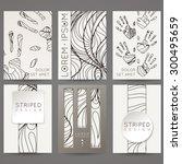 set of vector design templates. ... | Shutterstock .eps vector #300495659