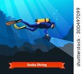 Professional Scuba Diver Man...