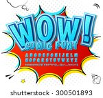 creative high detail blue comic ... | Shutterstock .eps vector #300501893