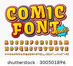 creative high detail comic font.... | Shutterstock .eps vector #300501896