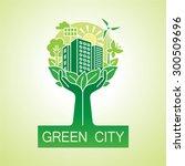 Go Green City Logo. Ecology...