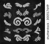 set of hand drawn laurels ... | Shutterstock . vector #300517649