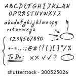 hand drawn black marker set of... | Shutterstock .eps vector #300525026