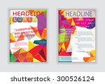 abstract design  sample text... | Shutterstock .eps vector #300526124