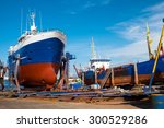 Trawlers At The Drydock Seen In ...