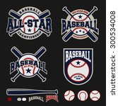 baseball badge logo design for... | Shutterstock .eps vector #300534008