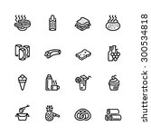 food icon set | Shutterstock .eps vector #300534818