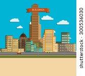 flat design modern illustration ... | Shutterstock .eps vector #300536030