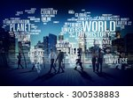 world globalization... | Shutterstock . vector #300538883